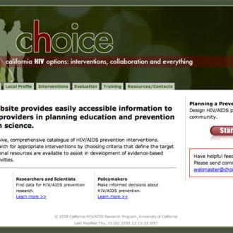 Choice HIV Website