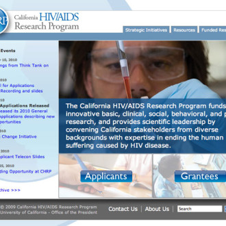 California HIV/AIDS Research Program Website