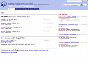 Project List Warehouse website