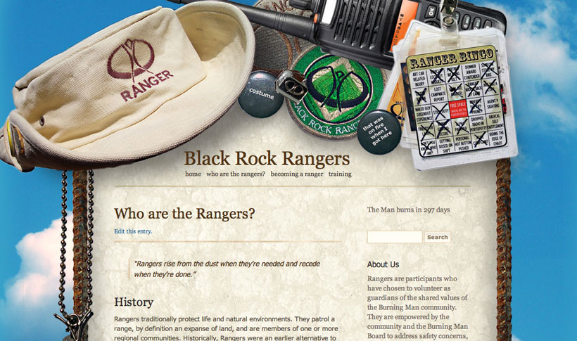 Rangers website