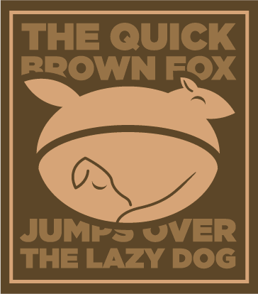 Quick Fox, Lazy Dog pangram logo