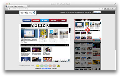 Curate.Us Edit Page