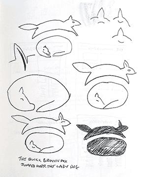 Quick Fox Initial Sketches
