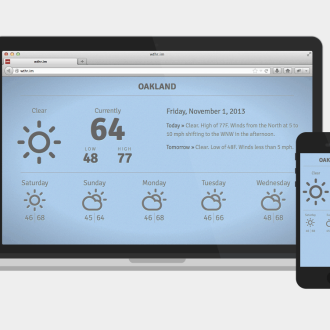 wthr.im Weather Forecast Website