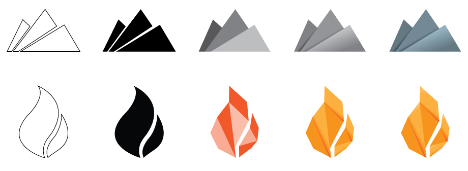 Fire Mountain Logo Creation