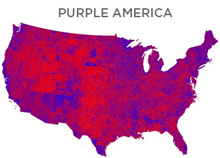 Map of Purple America